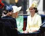 British Royals attend Trooping The Colour - The Queen's official birthday parade