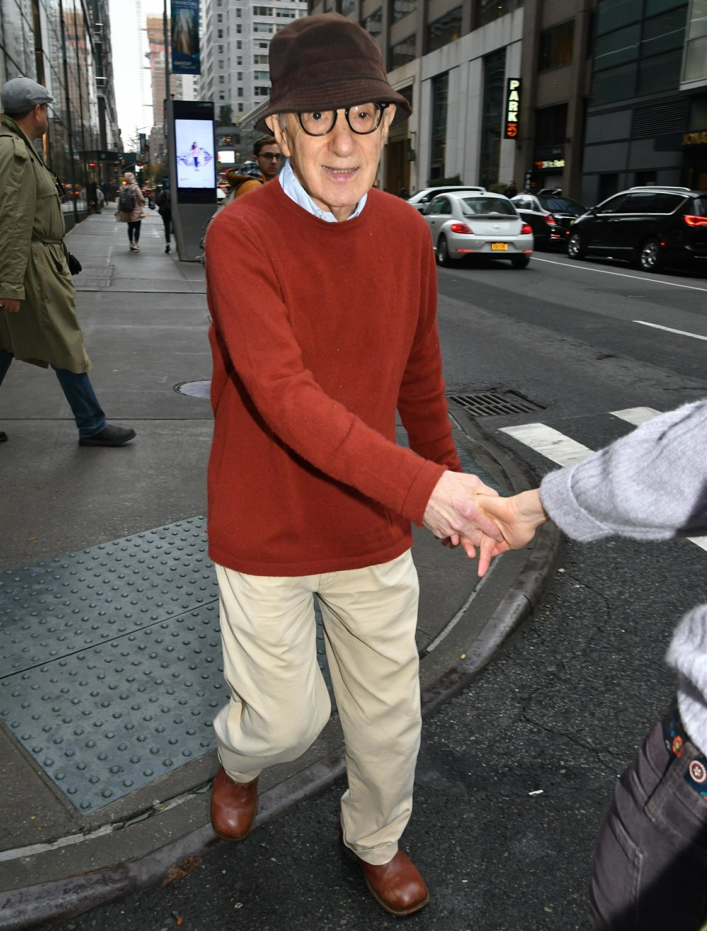 Woody Allen and Soon-Yi Previn are spotted out for a stroll near Bloomingdales in NYC