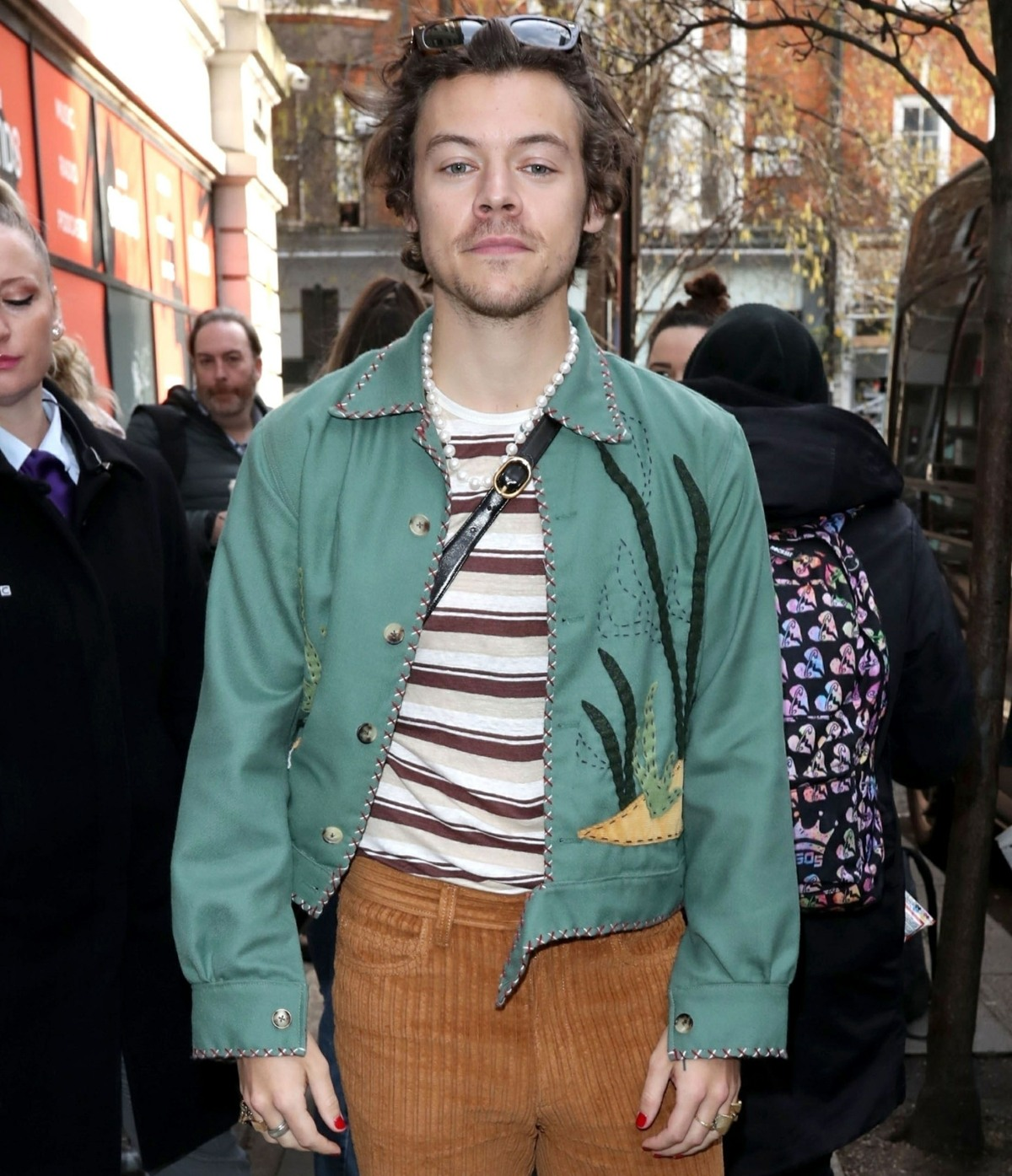 Fans wait for Former One Direction star Harry Styles outside at BBC Zoe Ball show