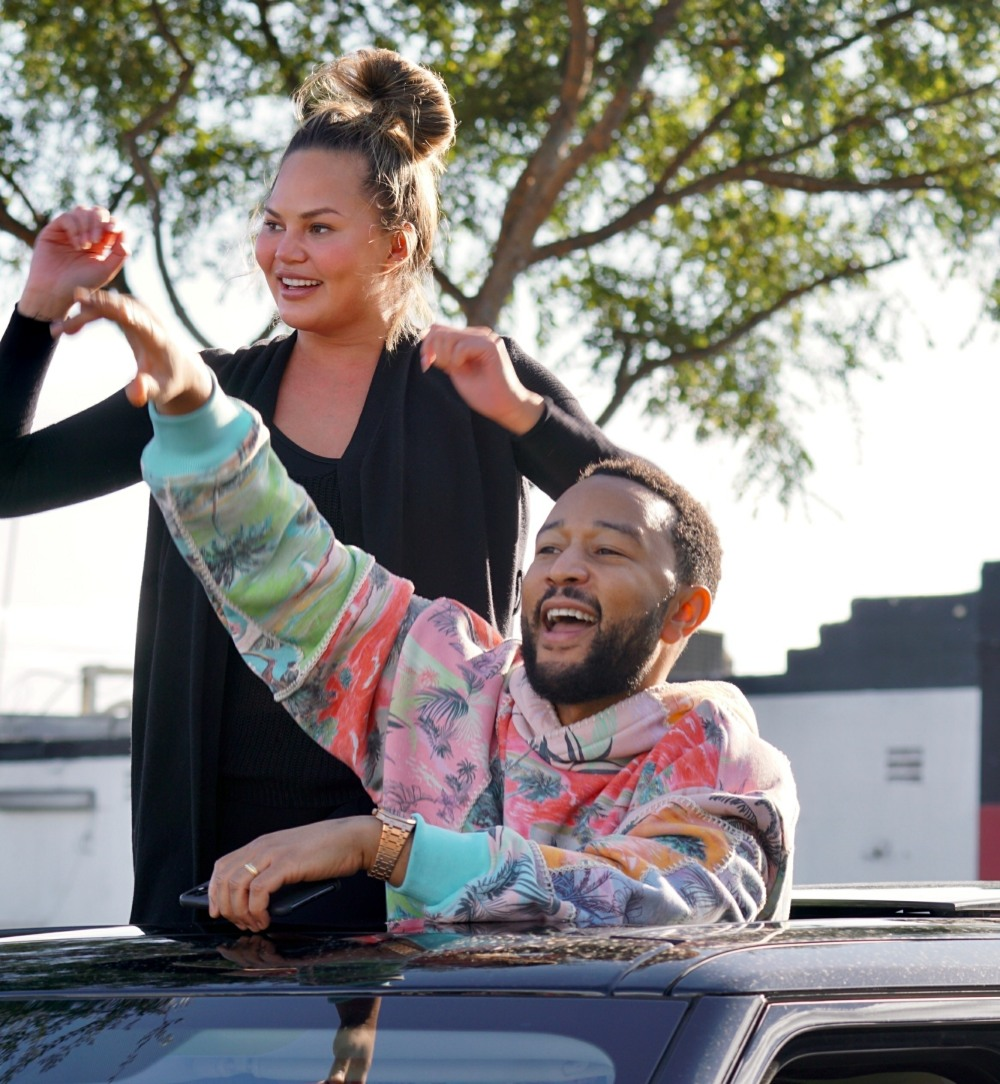 John Legend and Chrissy Teigen Celebrate the Elections in West Hollywood, CA