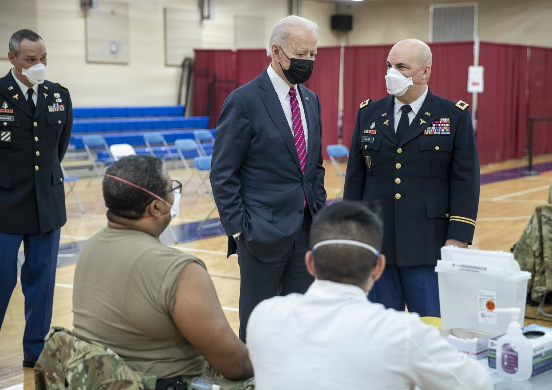US President Joe Biden visits Walter Reed National Military Medical Center