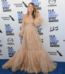 Olivia Wilde arrives at the 2020 Film Independent Spirit Awards, held on the beach in Santa Monica,...