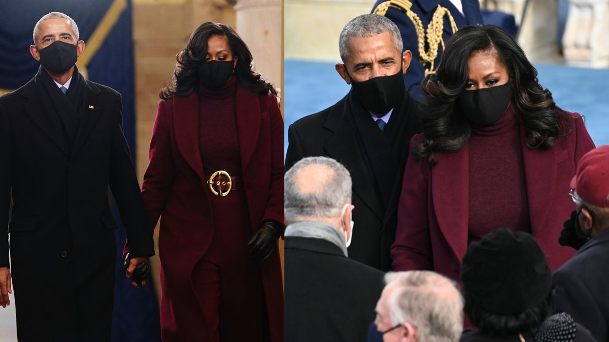 Michelle and Barack Obama at the Inauguration