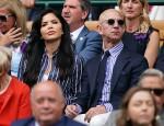 Lauren Sanchez and Jeff Bezos watch the Wimbledon Men's Singles Final on Centre Court.London, United Kingdom - Sunday July 14th, 2019.