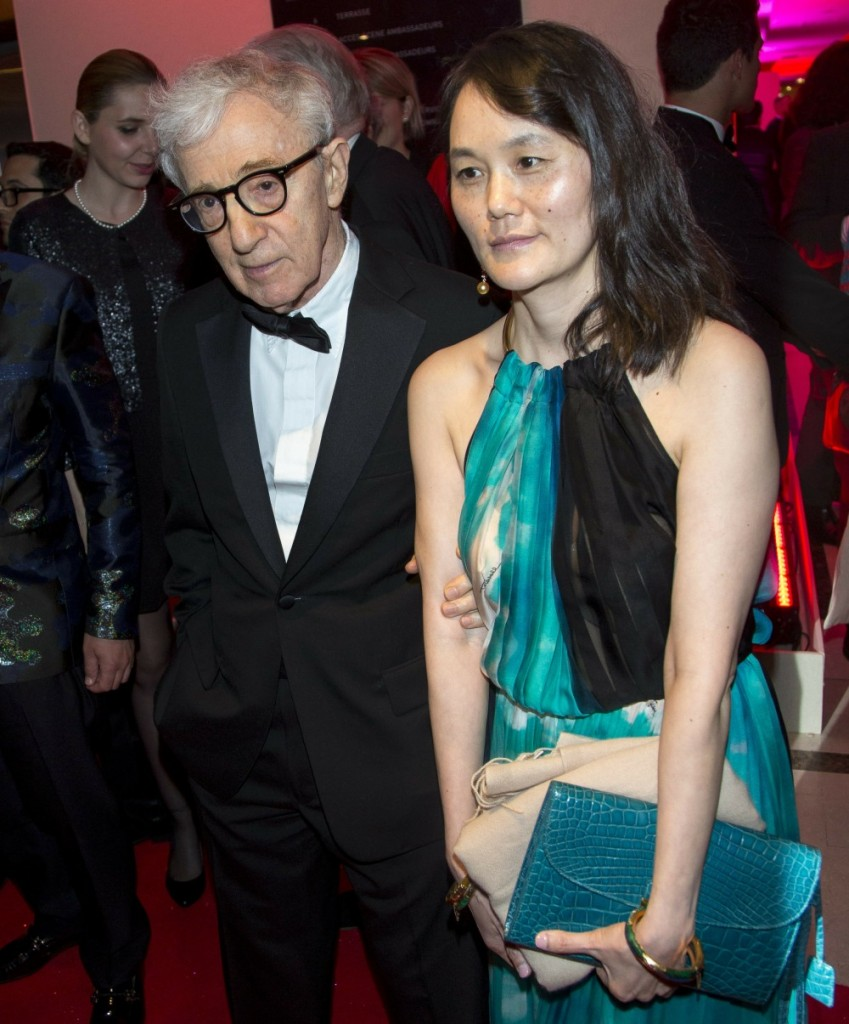 Director Woody Allen and Soon-Yi Previn attend the Opening Gala Dinner during the 69th Annual Cannes Film Festival at Palais des Festivals in Cannes, France, on 11 May 2016. Photo: Hubert Boesl / - NO WIRE SERVICE -