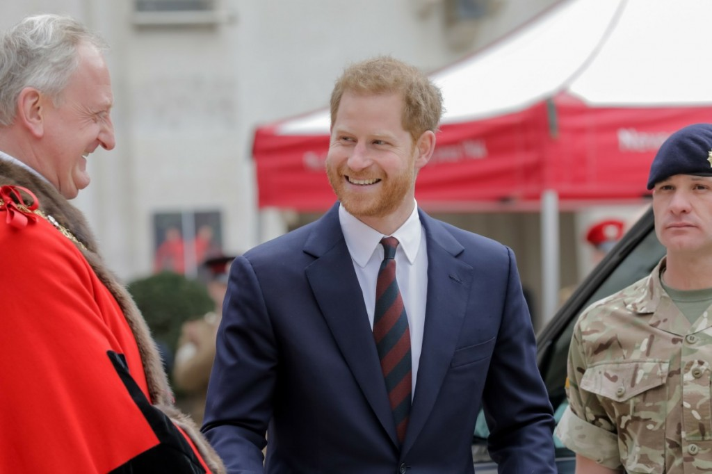 HRH Prince Harry, The Duke of Sussex attends the twelfth annual Lord Mayor?Äôs Big Curry Lunch in aid of the three National Service Charities: ABF The Soldiers?Äô Charity, the Royal Navy and Royal Marines Charity and the Royal Air Force Benevolent Fund.