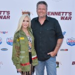 Singer Gwen Stefani and boyfriend/singer Blake Shelton arrive at the Los Angeles Premiere Of Forrest Films' 'Bennett's War' held at the Steven J. Ross Theater at Warner Bros. Studios on August 13, 2019 in Burbank, Los Angeles, California, United States. (