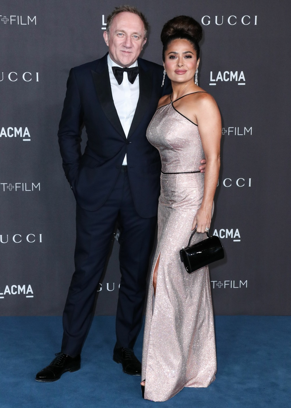 Francois-Henri Pinault and Salma Hayek Pinault arrive at the 2019 LACMA Art + Film Gala held at the Los Angeles County Museum of Art on November 2, 2019 in Los Angeles, California, United States.