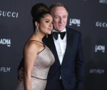 Salma Hayek Pinault and Francois-Henri Pinault arrive at the 2019 LACMA Art + Film Gala held at the Los Angeles County Museum of Art on November 2, 2019 in Los Angeles, California, United States.