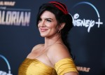 Gina Carano arrives at the Los Angeles Premiere Of Disney+'s 'The Mandalorian' held at the El Capitan Theatre on November 13, 2019 in Hollywood, Los Angeles, California, United States.