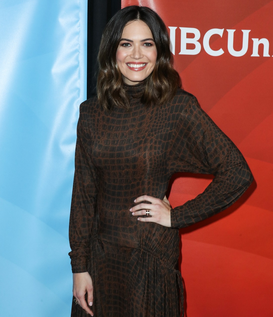 Mandy Moore arrives at the 2020 NBCUniversal Winter TCA Press Tour held at The Langham Huntington Hotel on January 11, 2020 in Pasadena, Los Angeles, California, United States.