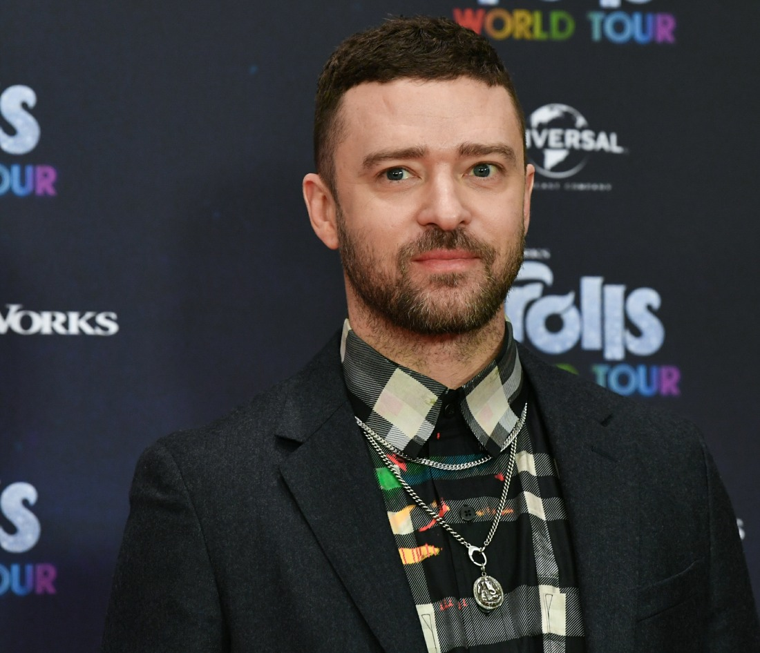 "Justin Timberlake, actor and musician, is at the photo shoot for the movie ""Trolls World Tour"" at th..."