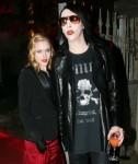 Marilyn Manson and girlfriend Evan Rachel Wood