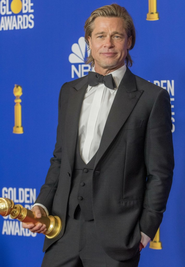 Brad Pitt poses in the press room of the 77th Annual Golden Globe Awards, Golden Globes, at Hotel Beverly Hilton in Beverly Hills, Los Angeles, USA, on 05 January 2020.   usage worldwide