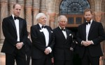 Prince Charles, HRH Prince William and HRH Prince Harry with Sir
