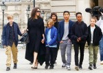 Angelina Jolie and her children enjoy a day out in Paris