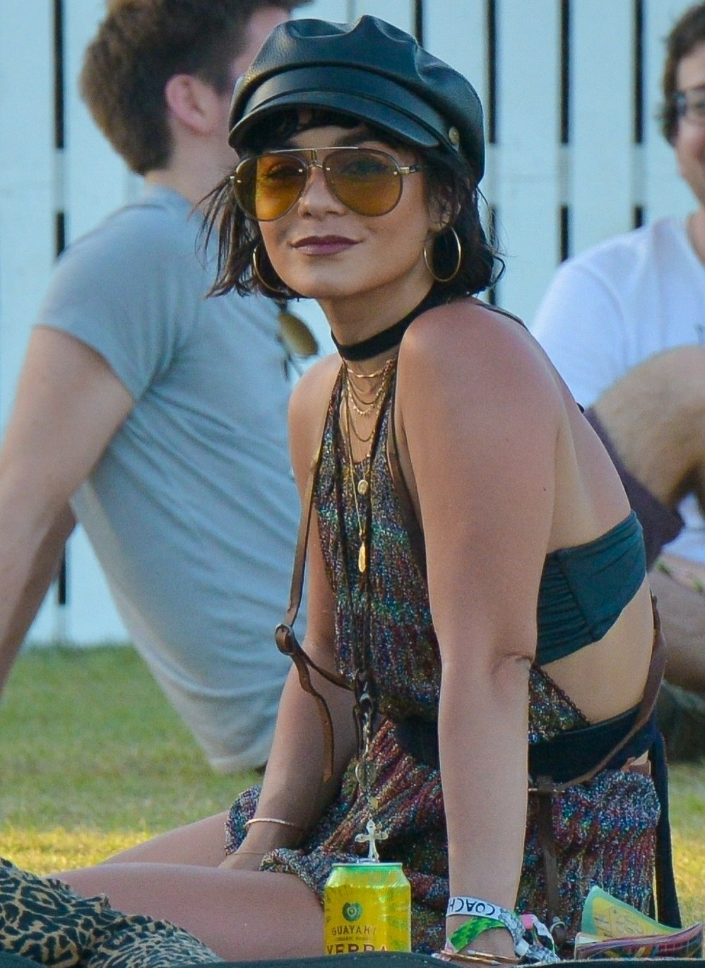 Vanessa Hudgens dances her heart out on the Polo Fields during Coachella Weekend 2
