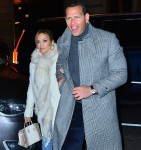 Newly Engaged Jennifer Lopez and Alex Rodriguez step out to the Polo Bar to enjoy a late night dinner in NYC