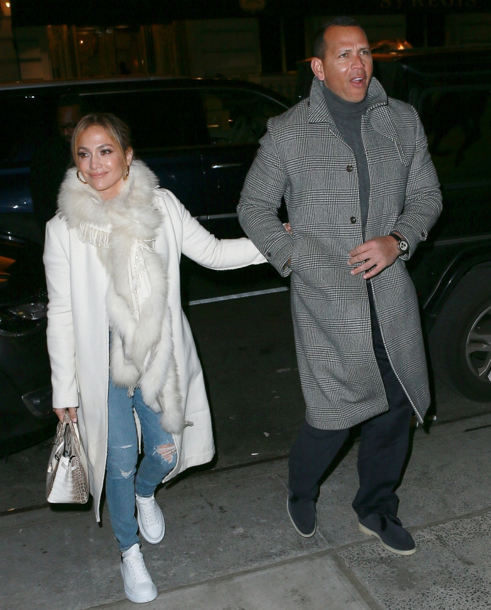 Jennifer Lopez and Alex Rodriguez head to the Polo Bar for dinner