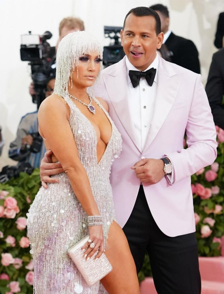 Jennifer Lopez arrives at the 2019 Met Gala in New York