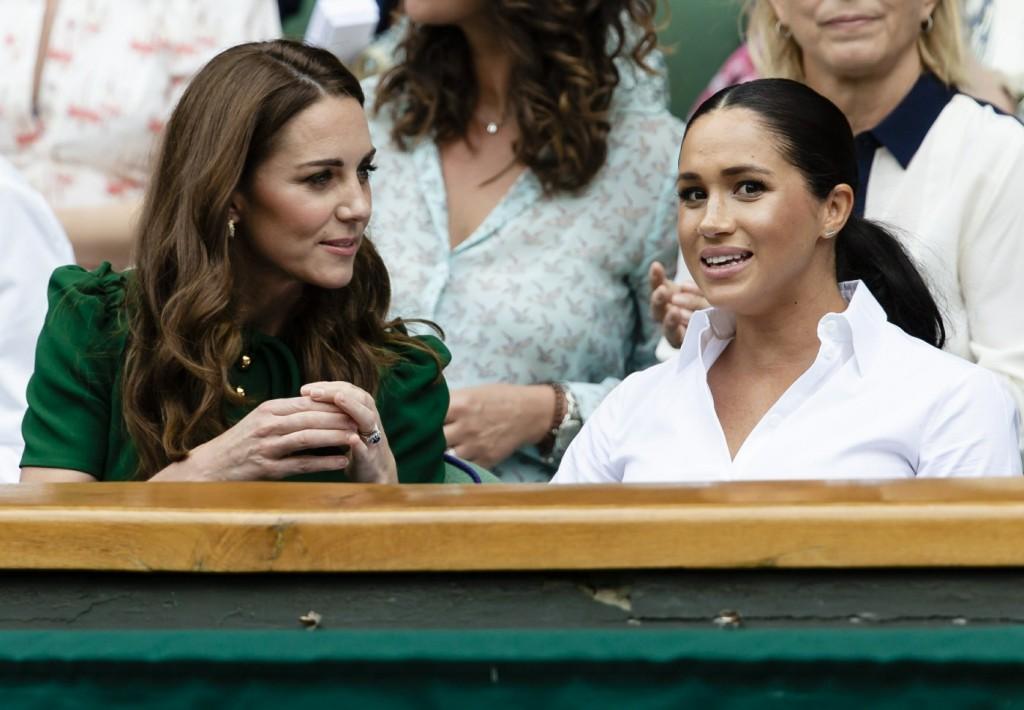 British Royals are seen at the Wimbledon Championships Day 12