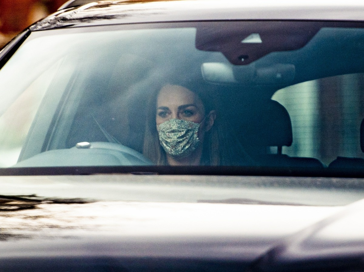 Duchess of Cambridge spotted the morning after Meghan Markle accused her of making her cry. She was spotted driving into Kensington Palace