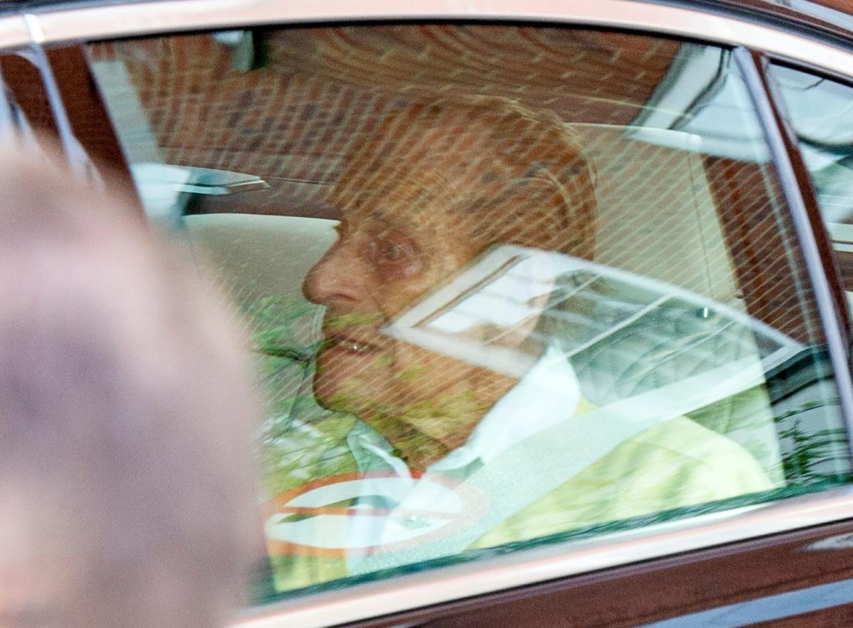Prince Philip, the Duke of Edinburgh leaves the King Edward VII Hospital in London