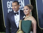 Jennifer Lopez and Alex Rodriguez (r) attend the 77th Annual Golden Globe Awards, Golden Globes, at Hotel Beverly Hilton in Beverly Hills, Los Angeles, USA, on 05 January 2020. | usage worldwide