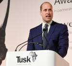 Britain's Prince William, Duke of Cambridge delivers a speech at the Tusk Conservation Awards in London
