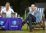 The Duke of Cambridge hosts an outdoor screening of the Heads Up FA Cup final on the Sandringham Estate. William watches with Tony Adams as Chelsea score.   1.8.2020