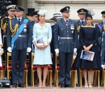 Prince William, Catherine Duchess of Cambridge, Prince Harry and Meghan Duchess of Sussex at the 100th Anniversary of the Royal Air Force, Buckingham Palace, London, UK on Tuesday 10th July 2018