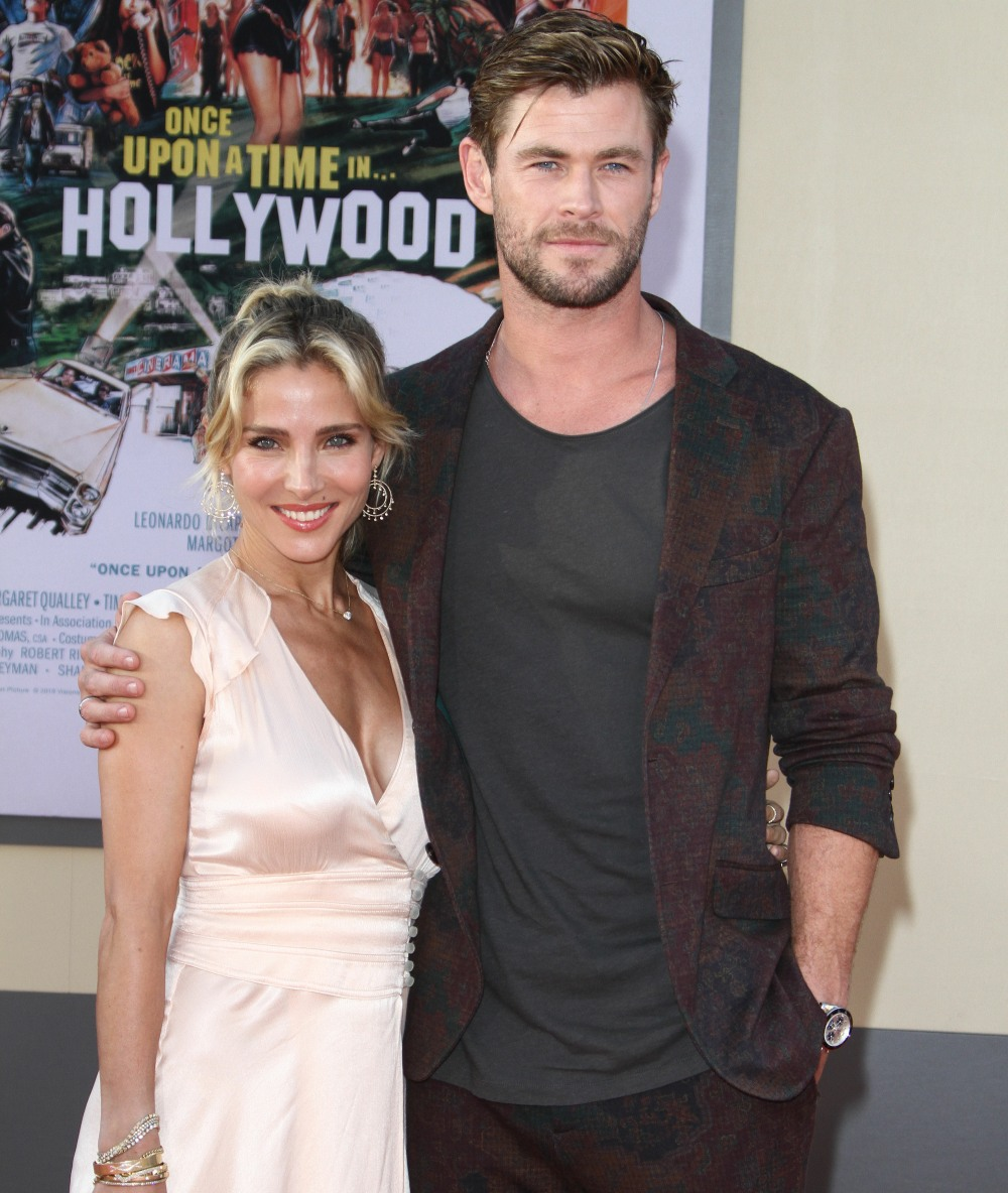 """Elsa Pataky, Chris Hemsworth attends The Premiere of """"Once Upon A time ...in Hollywood"""" in Los Angeles"""