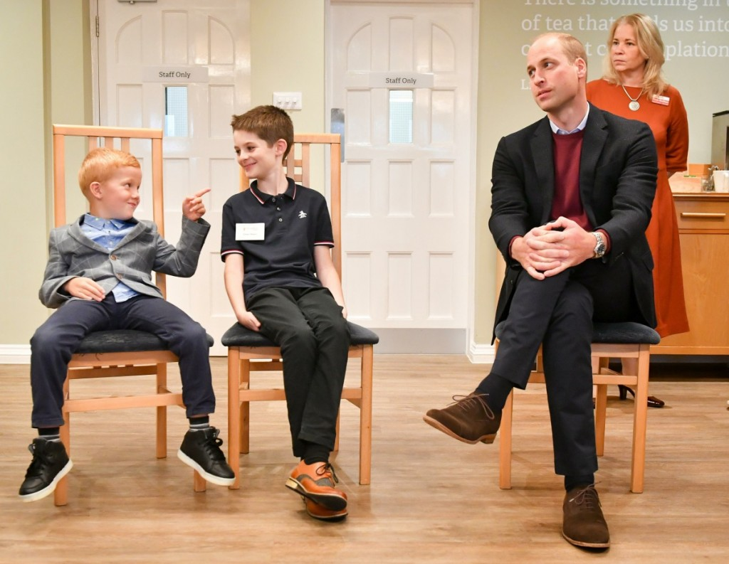 The Duke of Cambridge visit to Harcombe House