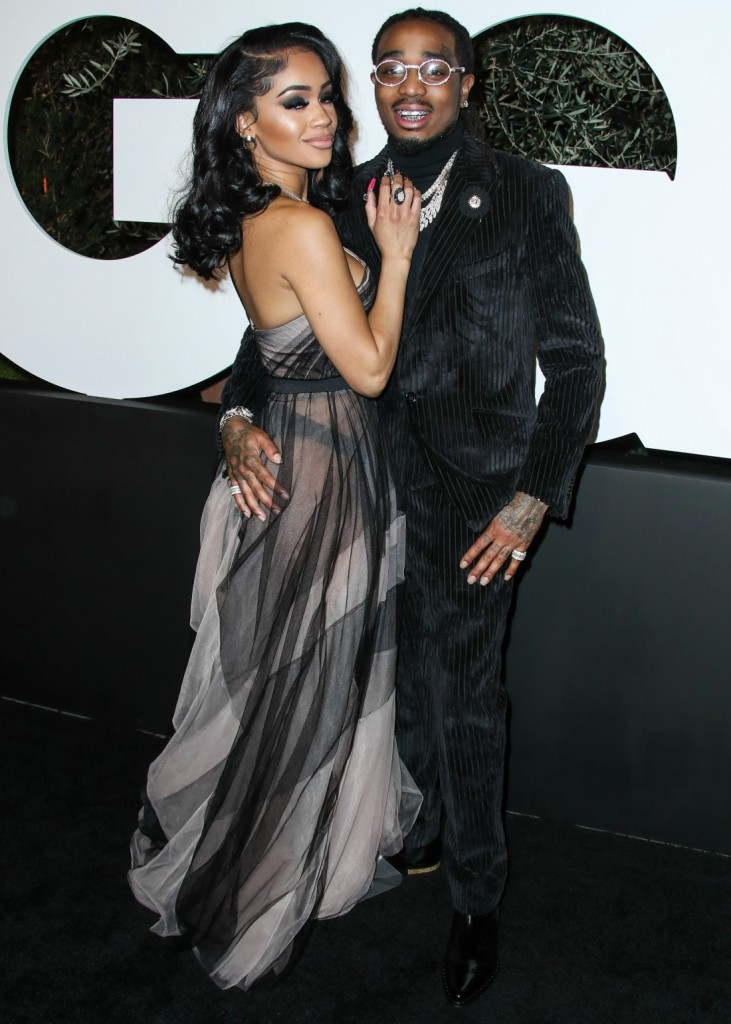 Saweetie and Quavo arrive at the 2019 GQ Men Of The Year Party held at The West Hollywood EDITION Hotel on December 5, 2019 in West Hollywood, Los Angeles, California, United States.