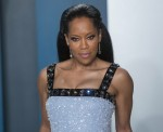 Regina King attends the Vanity Fair Oscar Party at Wallis Annenberg Center for the Performing Arts i...