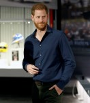 Britain's Prince Harry visits the Silverstone circuit in Towcester