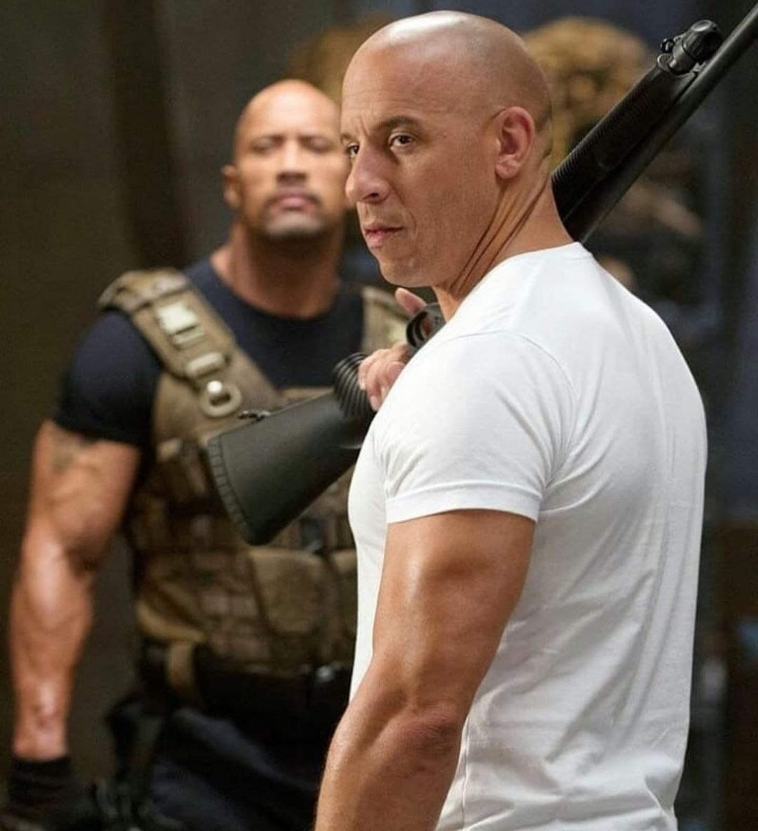 Vin Diesel and The Rock, via Instagram
