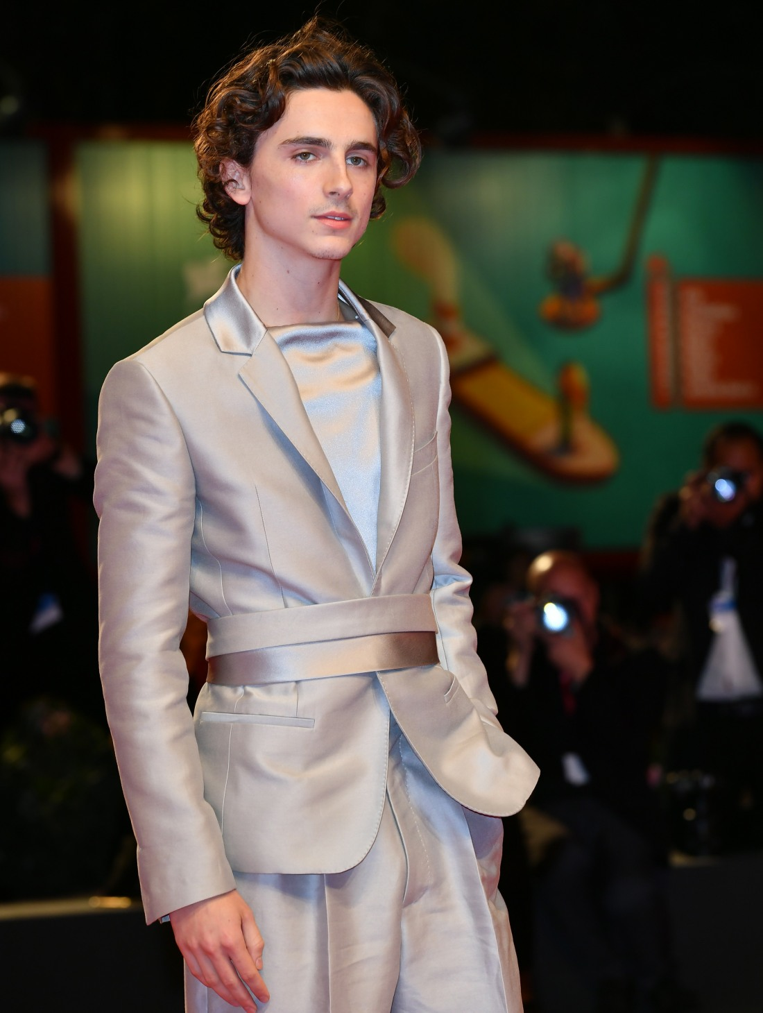 Timothee Chalamet during the red carpet of film ' The King ' at the 67th Venice Film Festival, Venice, ITALY-02-09-2019