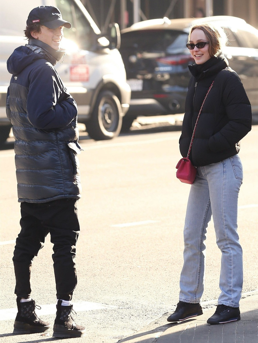 Lily-Rose Depp and Timothee Chalamet grab lunch together in NYC