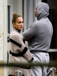 Jennifer Lopez and Alex Rodriguez arrive at Opa-locka airport in Florida