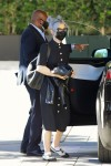 Kelly Osbourne arrives at the Hollywood Roosevelt for a project