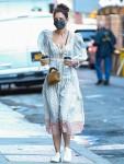 Katie Holmes looks fantastic in a long dress