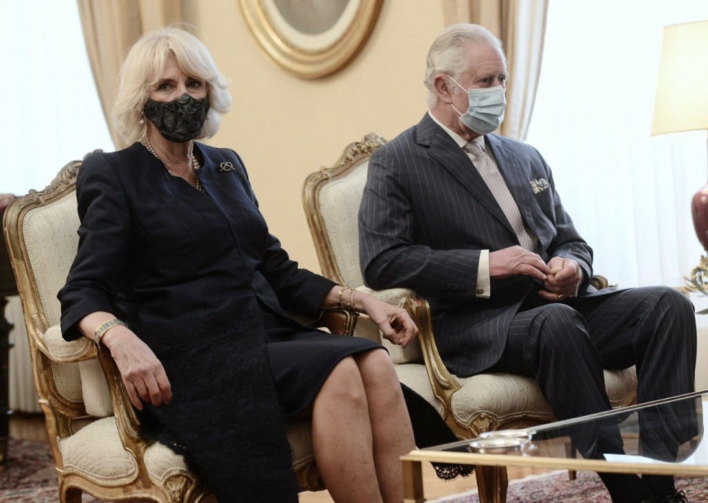 Prince Charles and Camilla Parker Bowles are seen visiting Athens as Greece celebrates 200 years of independence