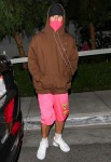 Justin and Hailey Bieber depart San Vicente Bungalows after dinner