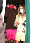 Justin and Hailey Bieber finish dinner at San Vicente Bungalows