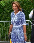 Carole Middleton attends day nine of the Wimbledon Tennis Championships