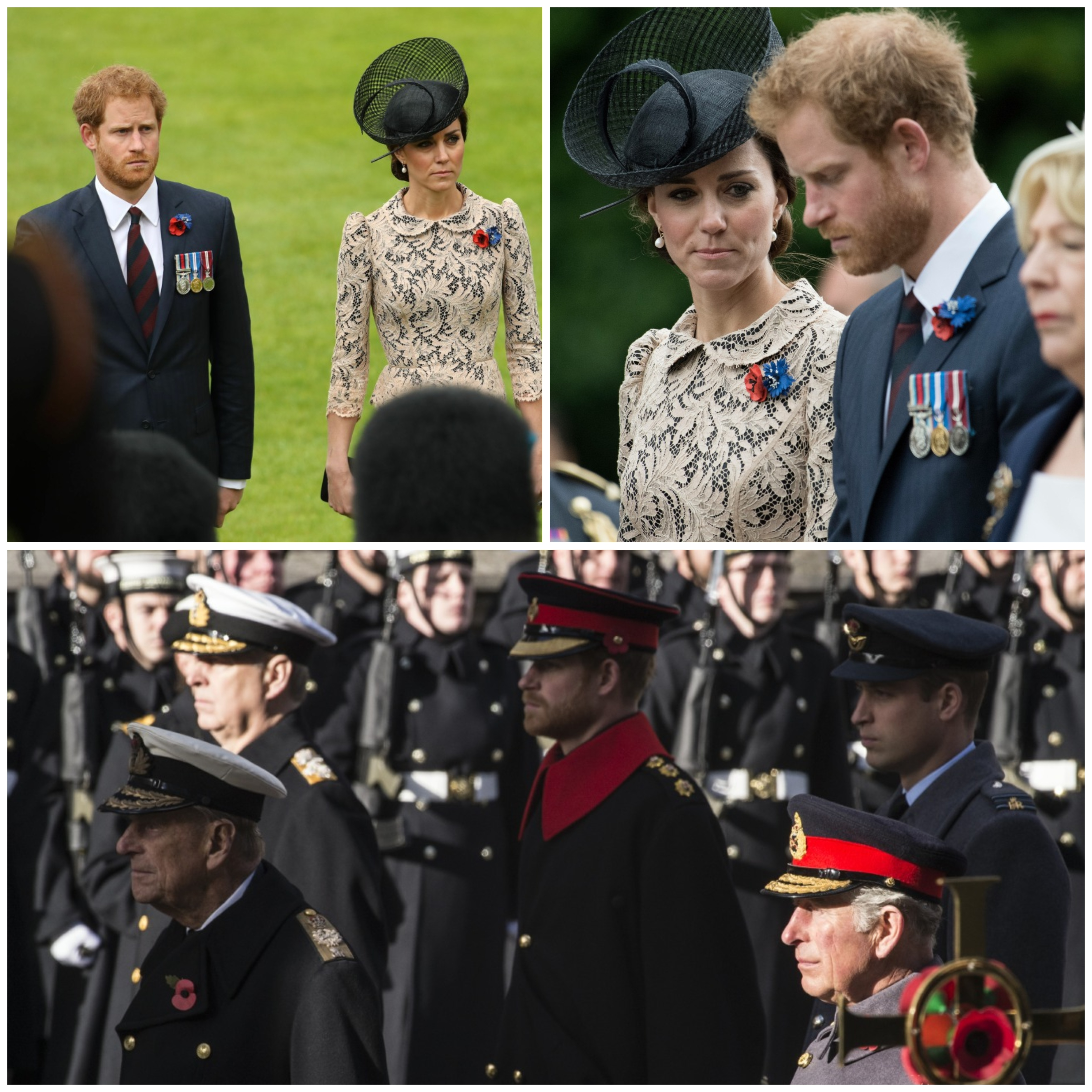 Collage of Prince Harry in uniform