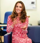 Britain's Catherine, Duchess of Cambridge speaks to people looking for work, at the London Bridge Jobcentre, in London