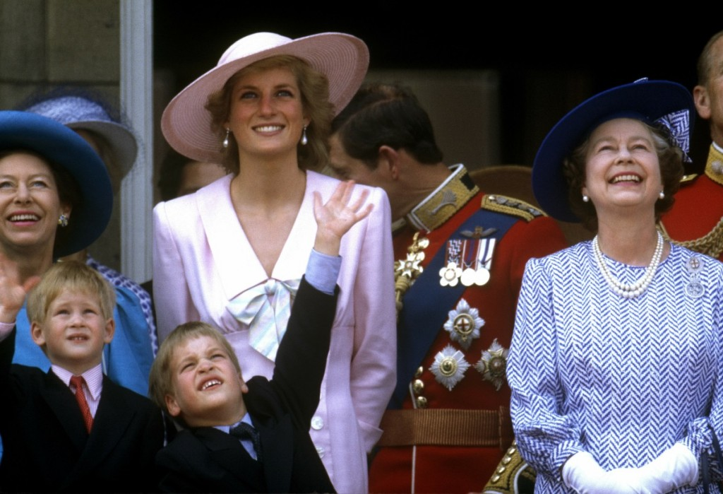 Diana, Princess of Wales  Prince William Prince Harry  Queen Elizabeth II Princess Margaret Prince Charles, Prince of Wales Trooping the Colour