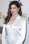 Actress Kathryn Hahn wearing Nicholas Kirkwood heels and Mizuki jewelry arrives at the BAFTA (British Academy of Film and Television Arts) Los Angeles Tea Party 2019 held at the Four Seasons Hotel Los Angeles at Beverly Hills on January 5, 2019 in Beverly
